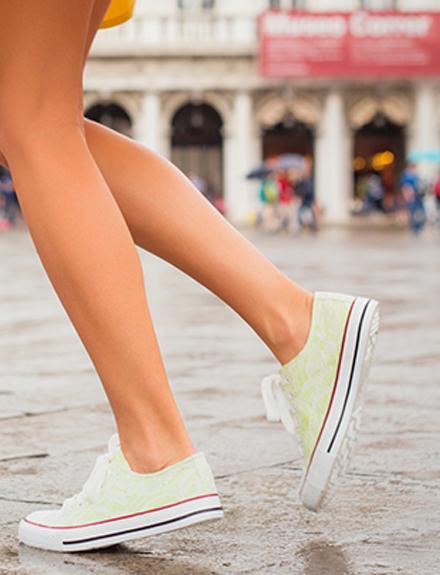 Zapatillas con falda, ¡acierto!