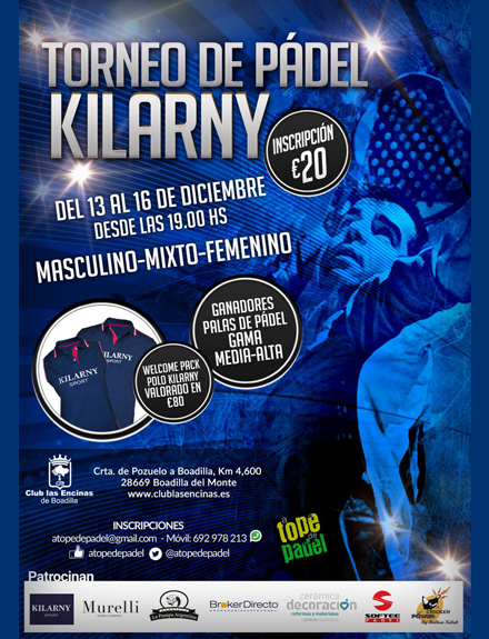 Torneo de Pádel Kilarny