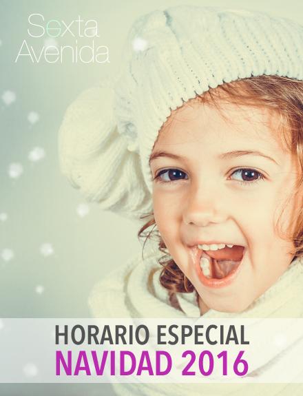 Horario especial de Navidad