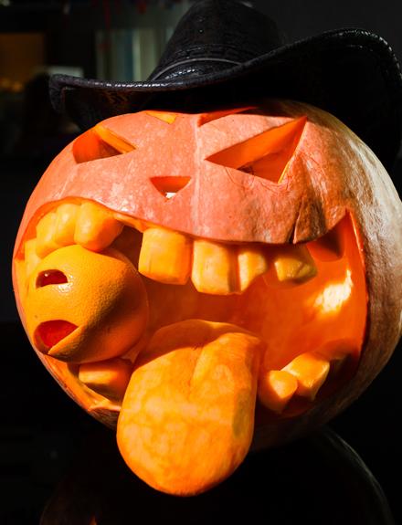 Cuatro Propiedades De La Calabaza De Halloween Centro Comercial - Calabaza-hallowen