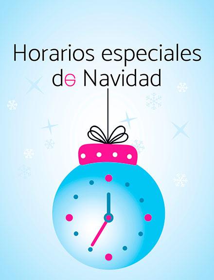 Horarios Especiales NAVIDAD