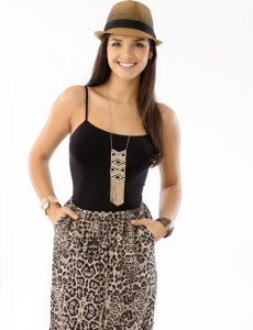 falda de leopardo
