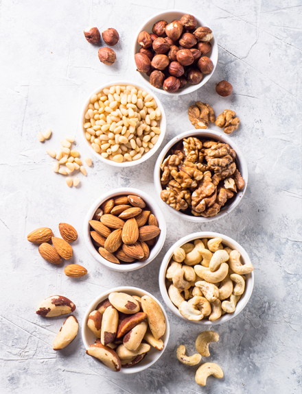 4 tipos de nueces buenas para tu salud